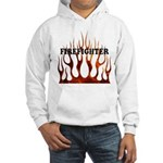 Firefighter Tribal Flames Hooded Sweatshirt