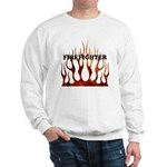 Firefighter Tribal Flames Sweatshirt