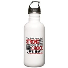 Melanoma HowStrongWeAr Water Bottle