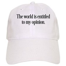 My Opinion Baseball Baseball Cap