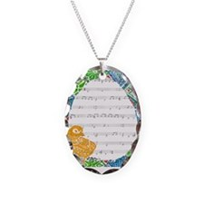 Easter Chick Square Necklace