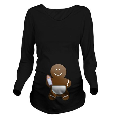 Gingerbread Boy baby Long Sleeve Maternity T-Shirt