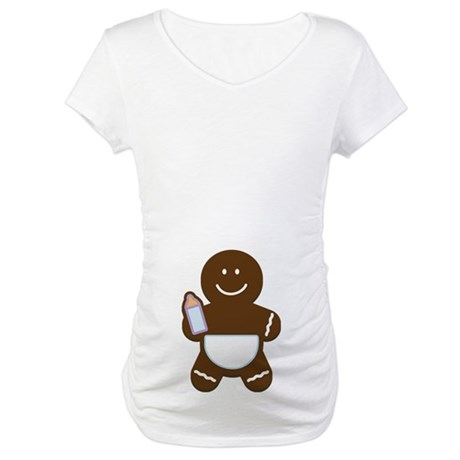 Gingerbread Boy baby Maternity T-Shirt
