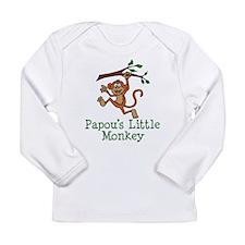 Papou's Little Monkey Long Sleeve T-Shirt