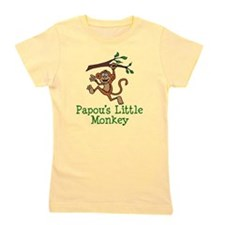 Papou's Little Monkey Girl's Tee
