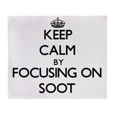 Keep Calm by focusing on Soot Throw Blanket