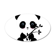 Black and White Panda Bear Wall Decal