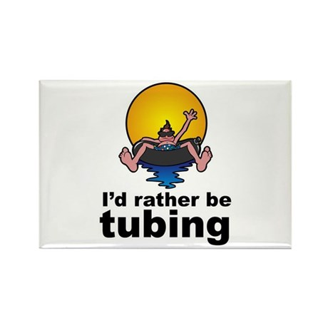 I'd Rather be tubing River Sport Rectangle Magnet