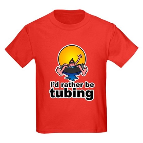 I'd Rather be tubing River Sport Kids Dark T-Shirt