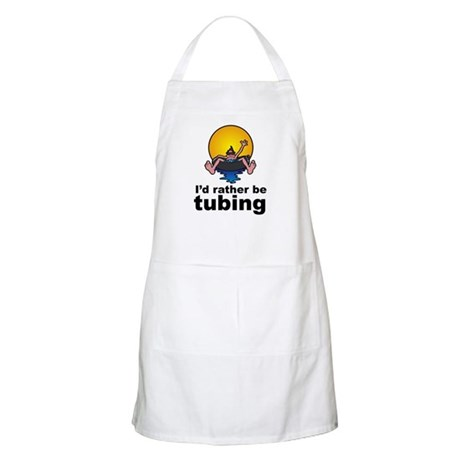 I'd Rather be tubing River Sport BBQ Apron