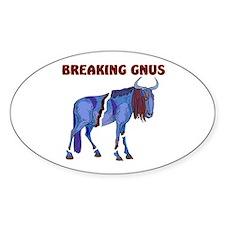 BREAKING GNUS Oval Decal