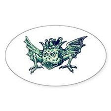 Winged Water Demon Oval Decal