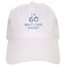 60th birthday excuse Baseball Cap