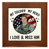 For Lara Custom Military Photo Framed Tile
