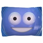 Candy Smiley - Blue Pillow Sham