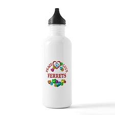 Peace Love Ferrets Water Bottle