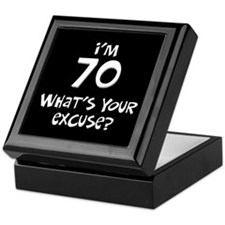 70th birthday excuse Keepsake Box