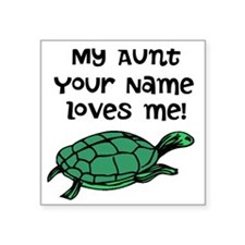 My Aunt Loves Me Green Turtle Sticker