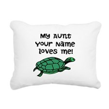 My Aunt Loves Me Green Turtle Rectangular Canvas P