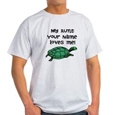 My Aunt Loves Me Green Turtle T-Shirt