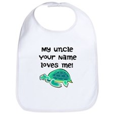 My Uncle Loves Me Turtle Bib