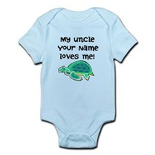 My Uncle Loves Me Turtle Body Suit