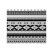 Tribal Aztec Geometric Throw Blanket