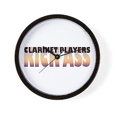 Clarinet Players Kick Ass Wall Clock