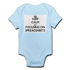 Keep Calm by focusing on Spreadsheets Body Suit