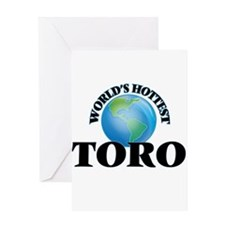 World's hottest Toro Greeting Cards