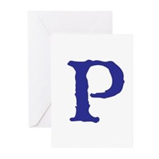 P Greeting Cards