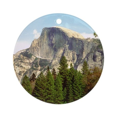 Half Dome Framed Round Ornament