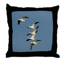 Snow Geese Throw Pillow