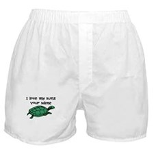 I Love My Aunt Green Turtle Boxer Shorts