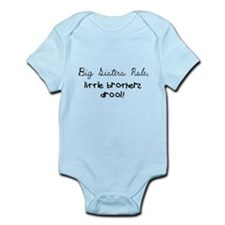 Cute Little sister big brother Infant Bodysuit