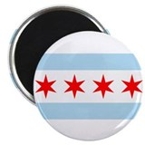 "Chicago Flag 2.25"" Magnet (10 pack)"