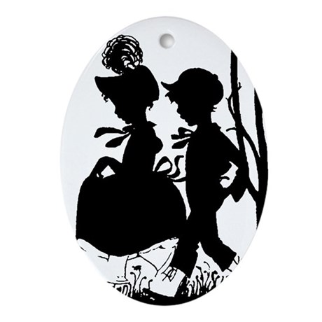 Young Love Oval Ornament
