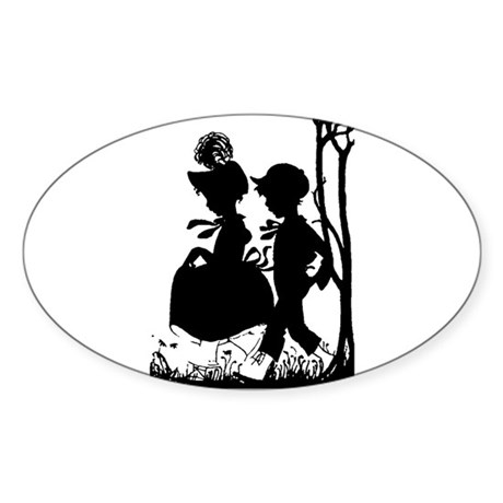 Young Love Oval Sticker