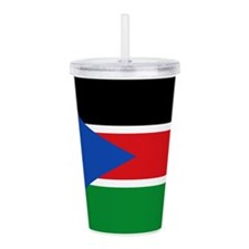 South Sudan Flag Acrylic Double-wall Tumbler