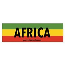 Rasta Gear Shop Africa Bumper Car Sticker