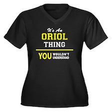 Cute Orioles Women's Plus Size V-Neck Dark T-Shirt