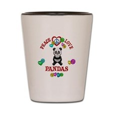 Peace Love Pandas Shot Glass