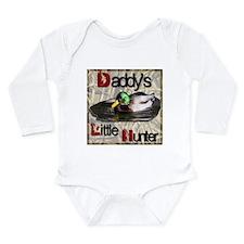 Daddy's Little Hunter Long Sleeve Infant Bodysuit