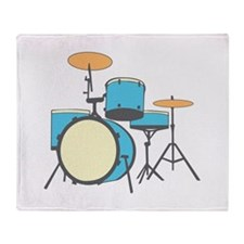 Drum Set Throw Blanket