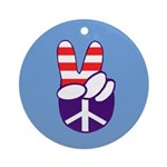 Patriotic Peace Hand Ornament