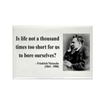 Nietzsche 12 Rectangle Magnet (10 pack)