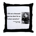 Nietzsche 12 Throw Pillow