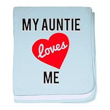 My Aunti Loves Me baby blanket