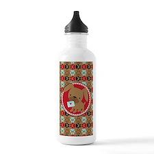 Pawprint Puppy Pattern Water Bottle