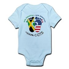 Jamaican American Baby Body Suit